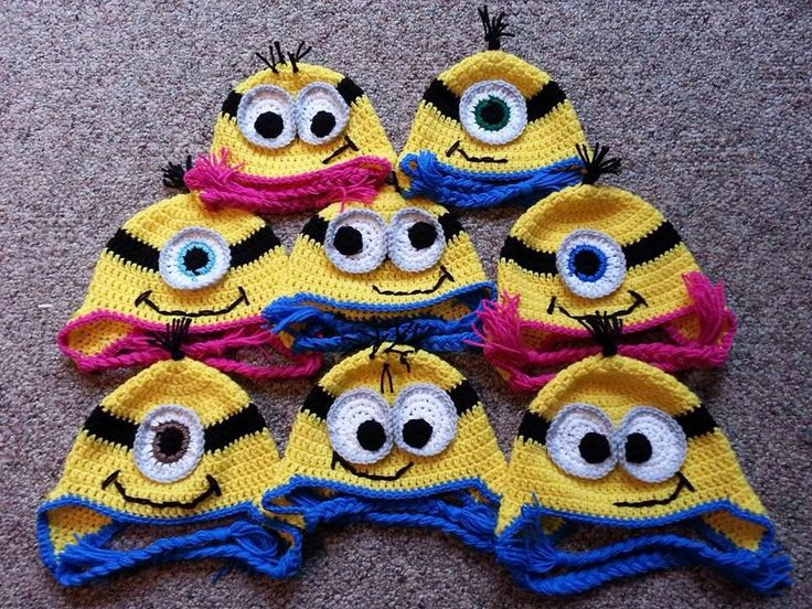 👀 Minion Gorro em Crochê Padrões -  /  👀  Minion  Beanie to Crocheting Standards -