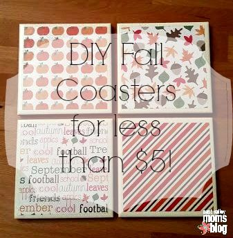 DIY Fall Coasters for less than $5! | East Valley Moms Blog