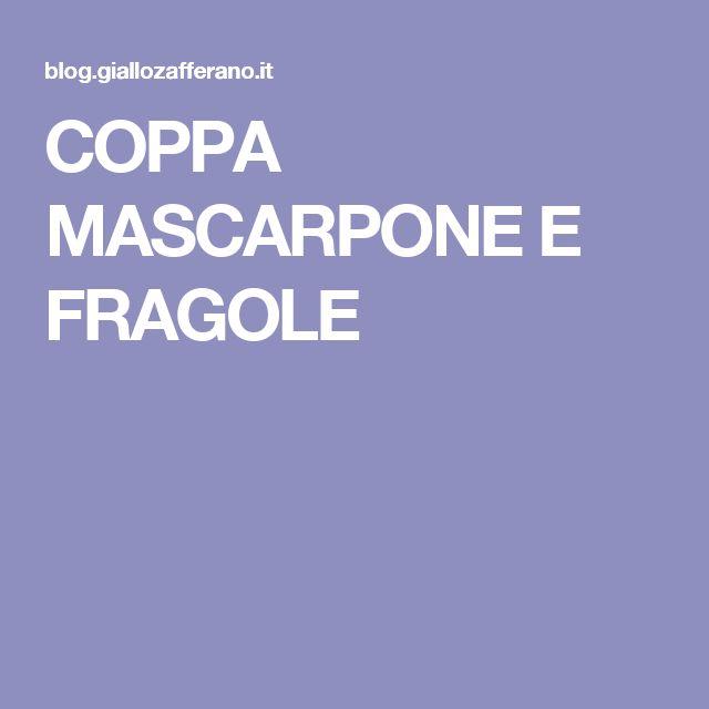 COPPA MASCARPONE E FRAGOLE