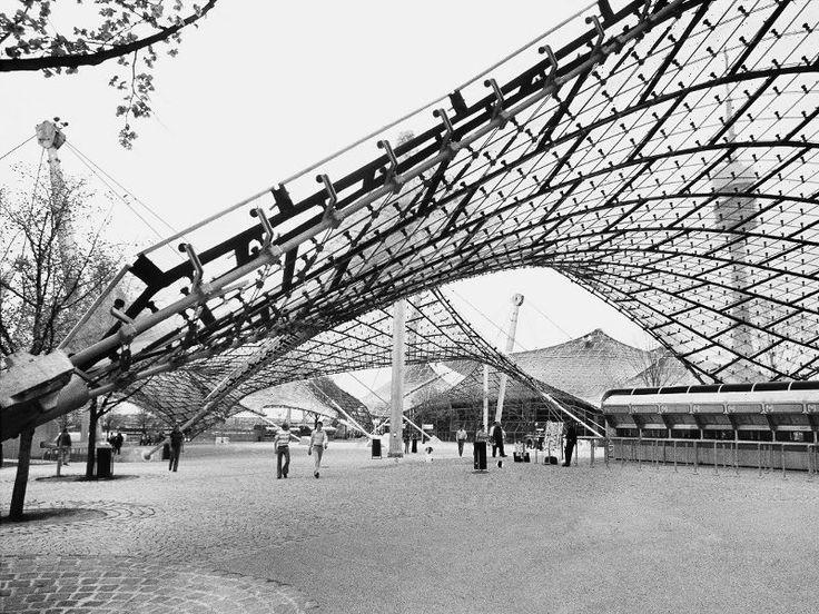 Frei Otto, coperture dello stadio olimpico e del parco olimpico, monaco, 1972