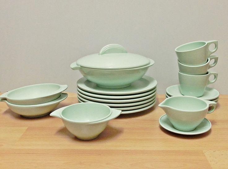 Boonton+Melamin+Geschirr+in+Mint+50er+J.+USA+von+Ober-Schick+auf+DaWanda.com