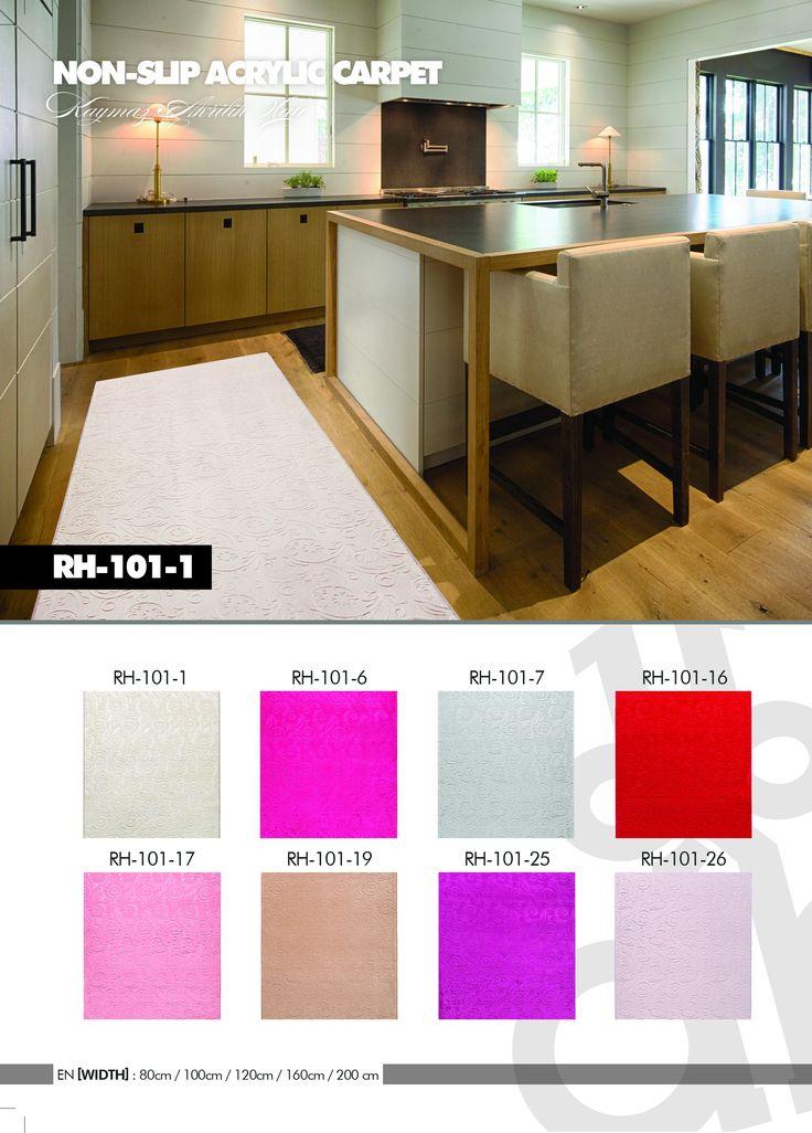 Kaymaz Tabanlı Akrilik Halı, Roseland RH 101 tüm renkleri, 6 mm hav yüksekliği ve üstün kalitesi ile yıllarca severek kullanacağınız sağlıklı hammaddeler kullanılarak üretilmiş kaymaz tabanlı halı modelleri
