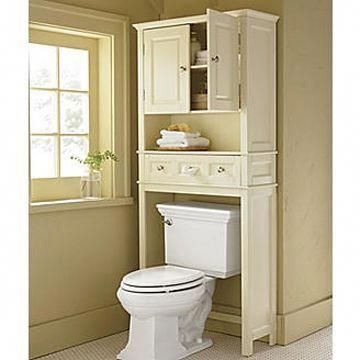 Toilet+Space+Saver | common bathroom space savers above toilet cabinet … #bath…  – Over toilet storage