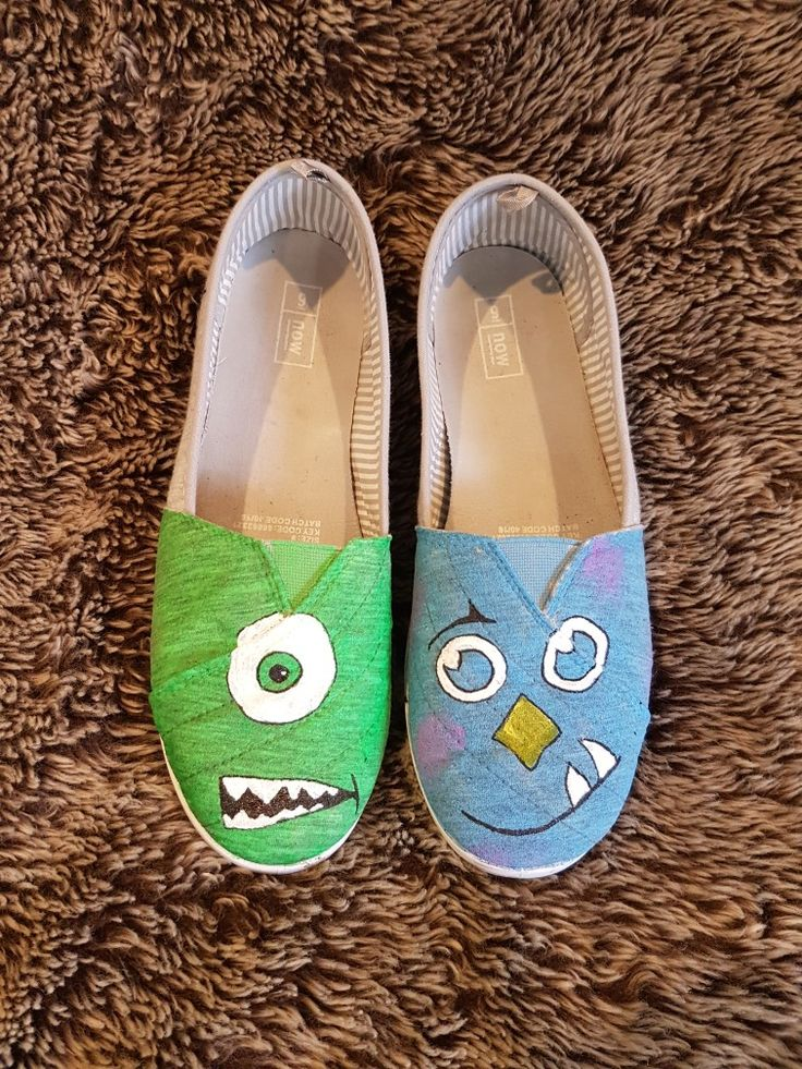 Mike and Sully handpainted shoes