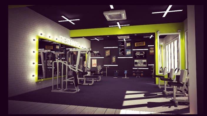 Black Green Gym Design Gym Interior Design