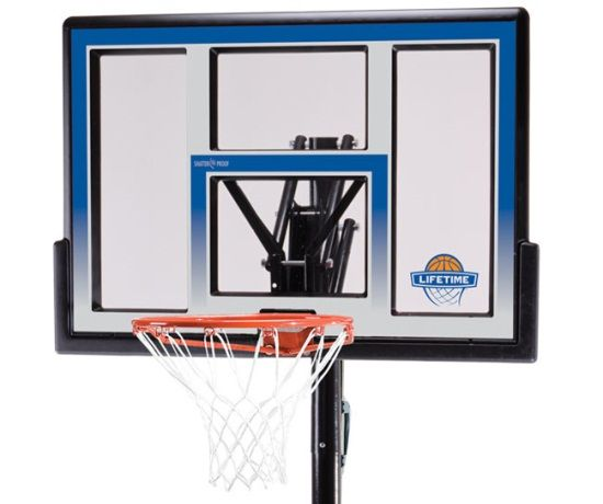 Lifetime Portable Basketball Hoop - 51550 Shatter Proof Courtside Basketball System - 48-inch Backboard