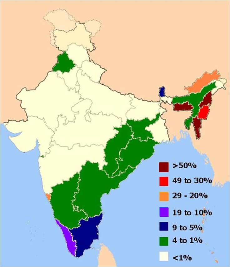 Population of Christians in India by state - over 1 billion non-believers! An estimated 85% have never met a Christian.