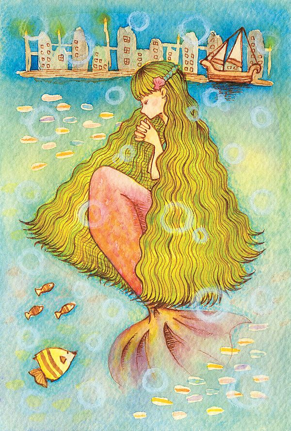 「人魚姫」 「The Little Mermaid」 Illustration : Shoko.h