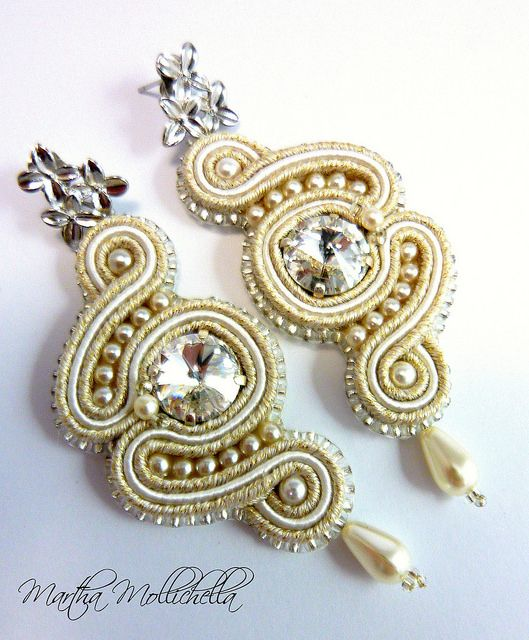 soutache earrings jewelry handmade in Italy - Lacasinaditobia Lacasinaditobia