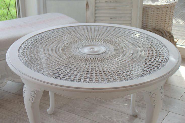 ~Chippendale~Tisch~Sonnengeflecht~shabby von Vintage Schatzkiste auf DaWanda.com