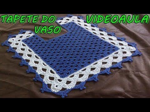 PASSO a PASSO TAPETE VASO SANITÁRIO (TAPETE ROSE- BICOLOR) TUTORIAL COMPLETO, DIY, CROCHÊ - YouTube