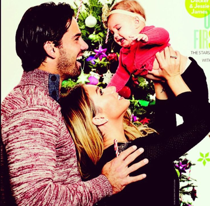 Jessie James Decker & Eric Decker with their princess and the frog ...