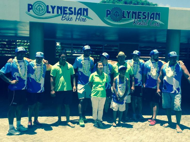 The Polynesian Rental Cars team and the Teimurimotia stallions, who came to visit us today! Awesome ...