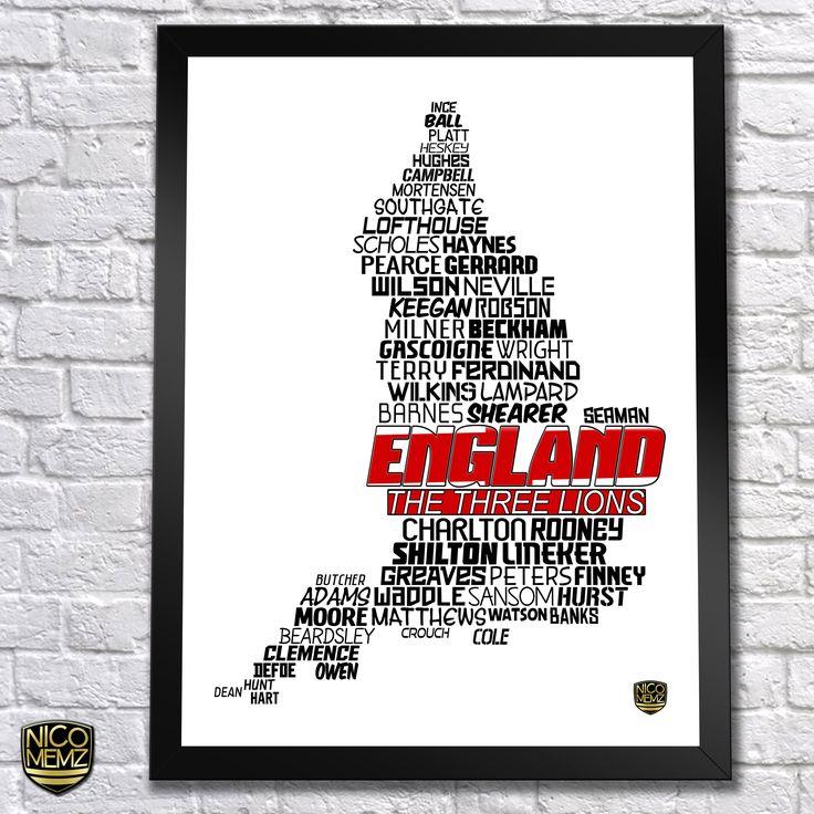 England National Team Poster   check it out at NicoMemz.com