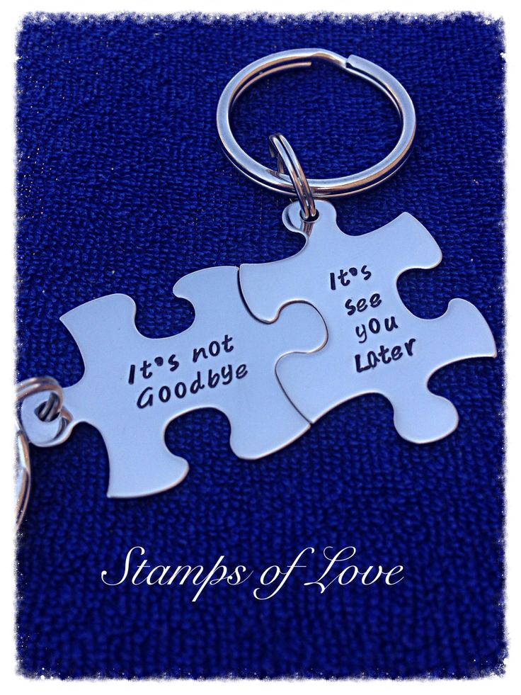 It's not goodbye it's see you later. Cute for military or those long distance relationships. www.etsy.com/shop/stampsoflove4