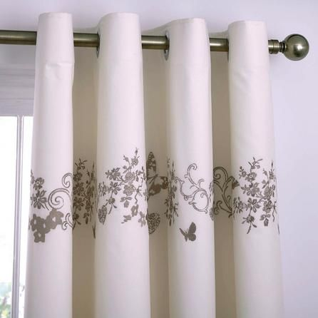 Dunelm Parisian Thermal Cream Cotton Eyelet Curtains