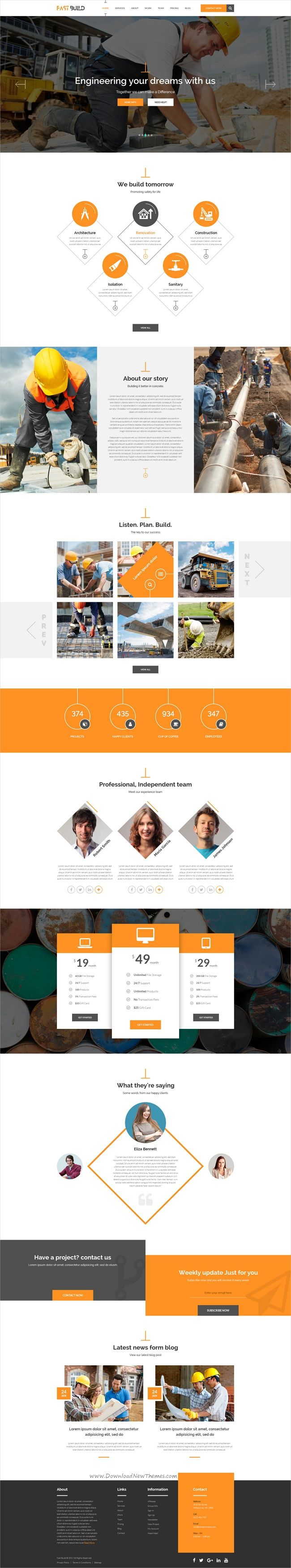 Fast desk is a professional and modern design #PSD template for stunning #construction #company website with 4 multipurpose homepage layouts download now➩ https://themeforest.net/item/fast-desk-office-food-charity-and-industry-psd-templates/19276717?ref=Datasata