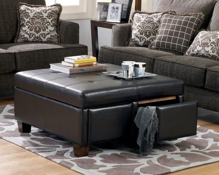 Black leather Ottoman coffee table with storage - 25+ Best Ideas About Ottoman With Storage On Pinterest Storage