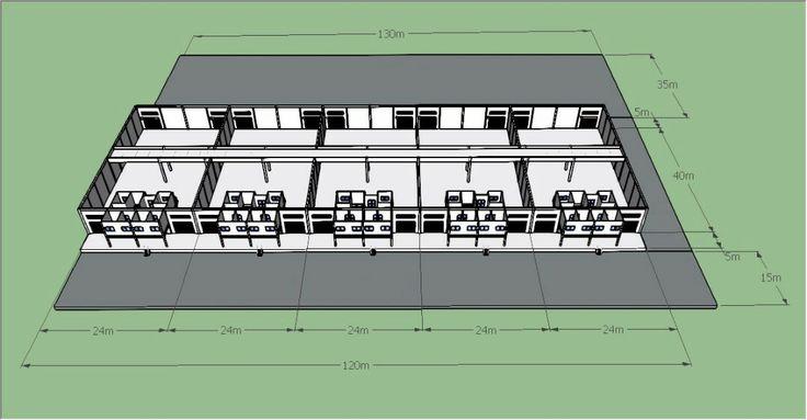 Warehouse redrawing using SketchUp #sketchup #3d #warehouse