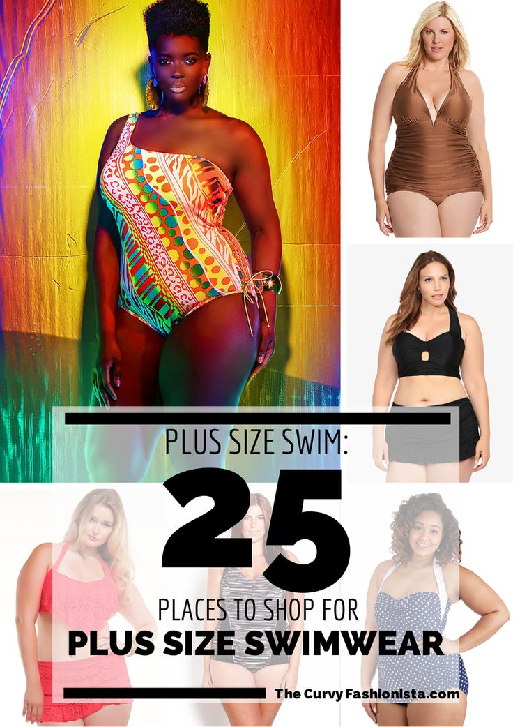 25 Places to Shop for Plus Size Swimwear on The Curvy Fashionista #TCFStyle