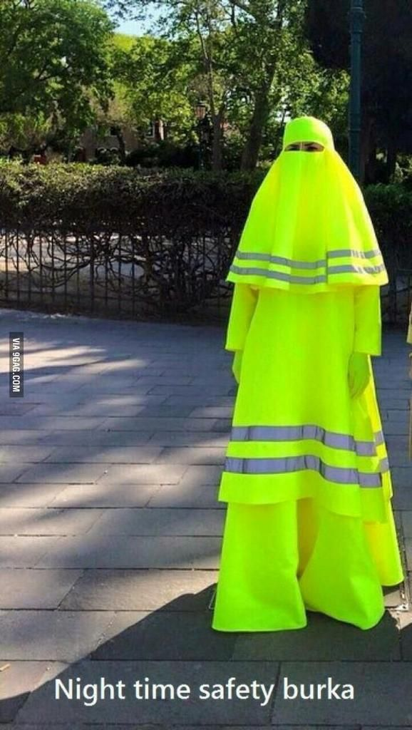 Funny Night Time Safety Burka