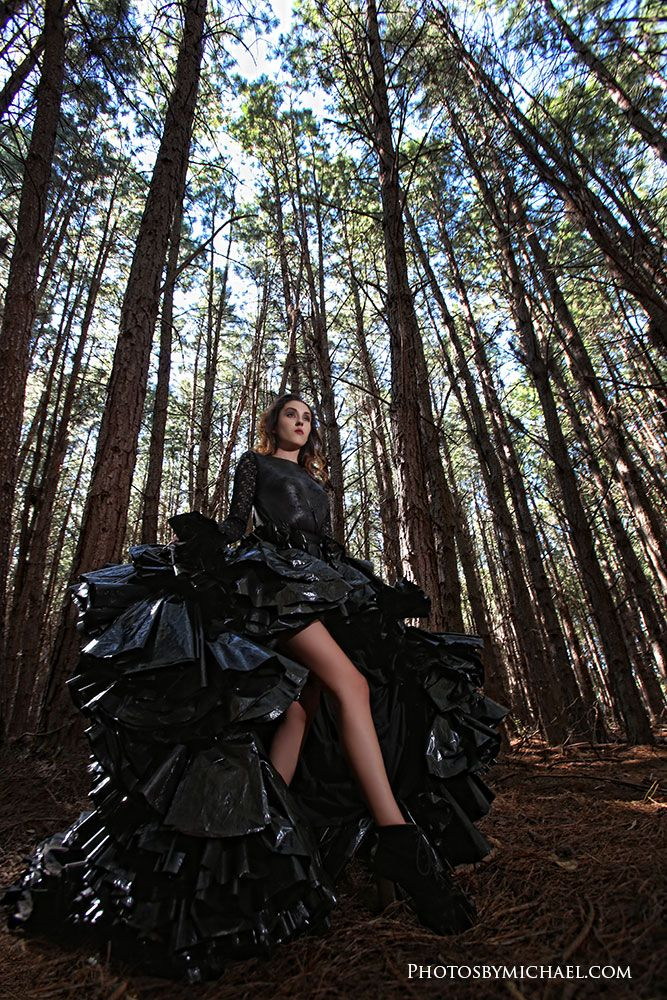 Trash The Dress The Garbage Bag Dress Shoot Diy