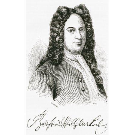 Gottfried Wilhelm von Leibniz 1646 Canvas Art - Ken Welsh Design Pics (10 x 17)