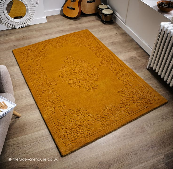 Imperial Gold Rug A Plain 100 Wool With Clically Inspired Hand