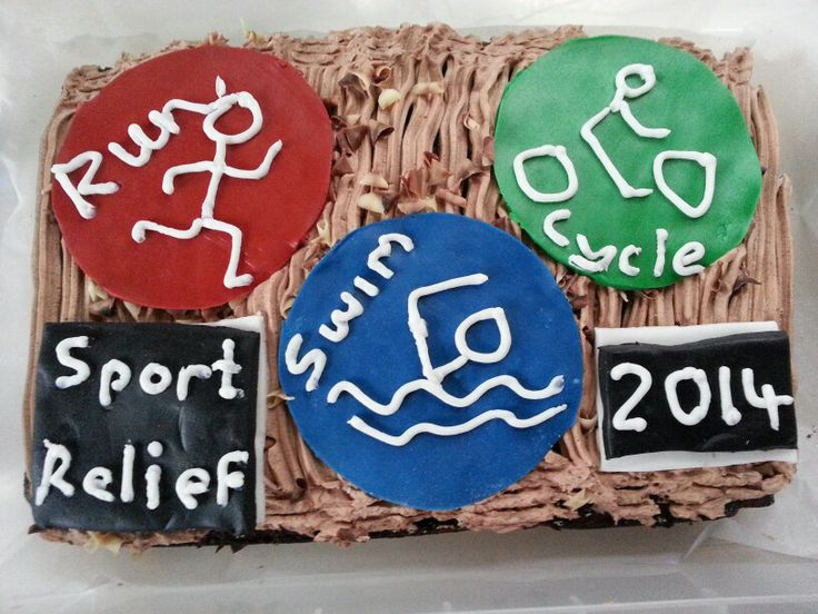 Sport relief cake x i came third in the bake off
