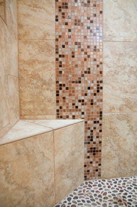 17 best images about shower walls shower caddies mosaic tile on pinterest master shower for Decorative wall tiles for bathroom