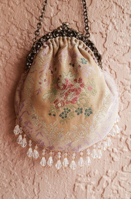 Romantic vintage 1940s Gypsy wedding Purse