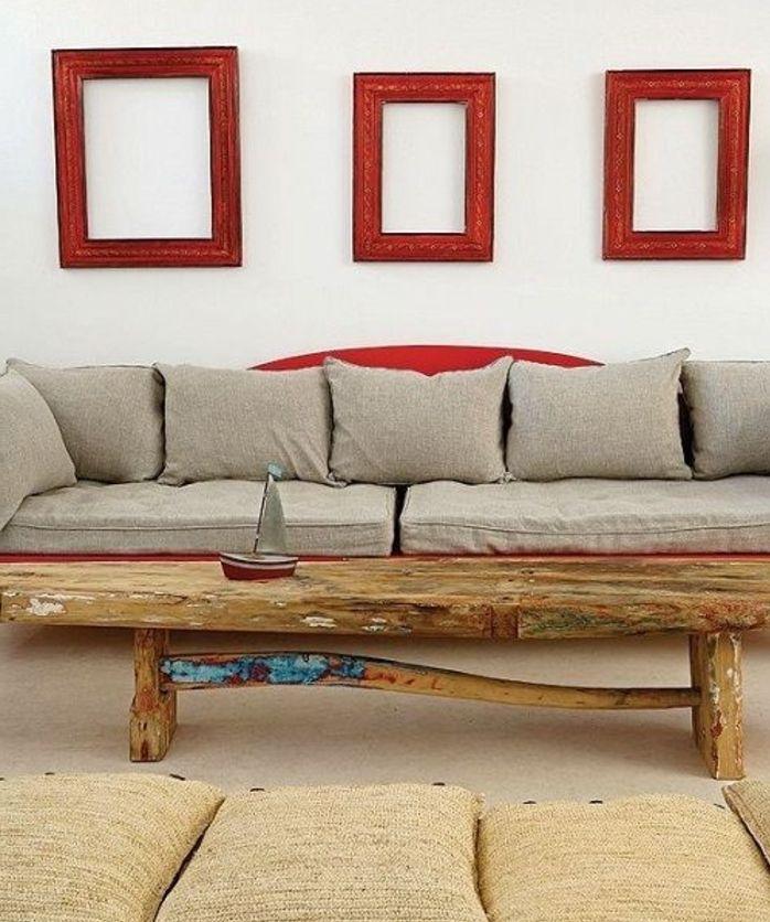 Les 25 meilleures id es concernant table bois brut sur for Decorer grand mur blanc