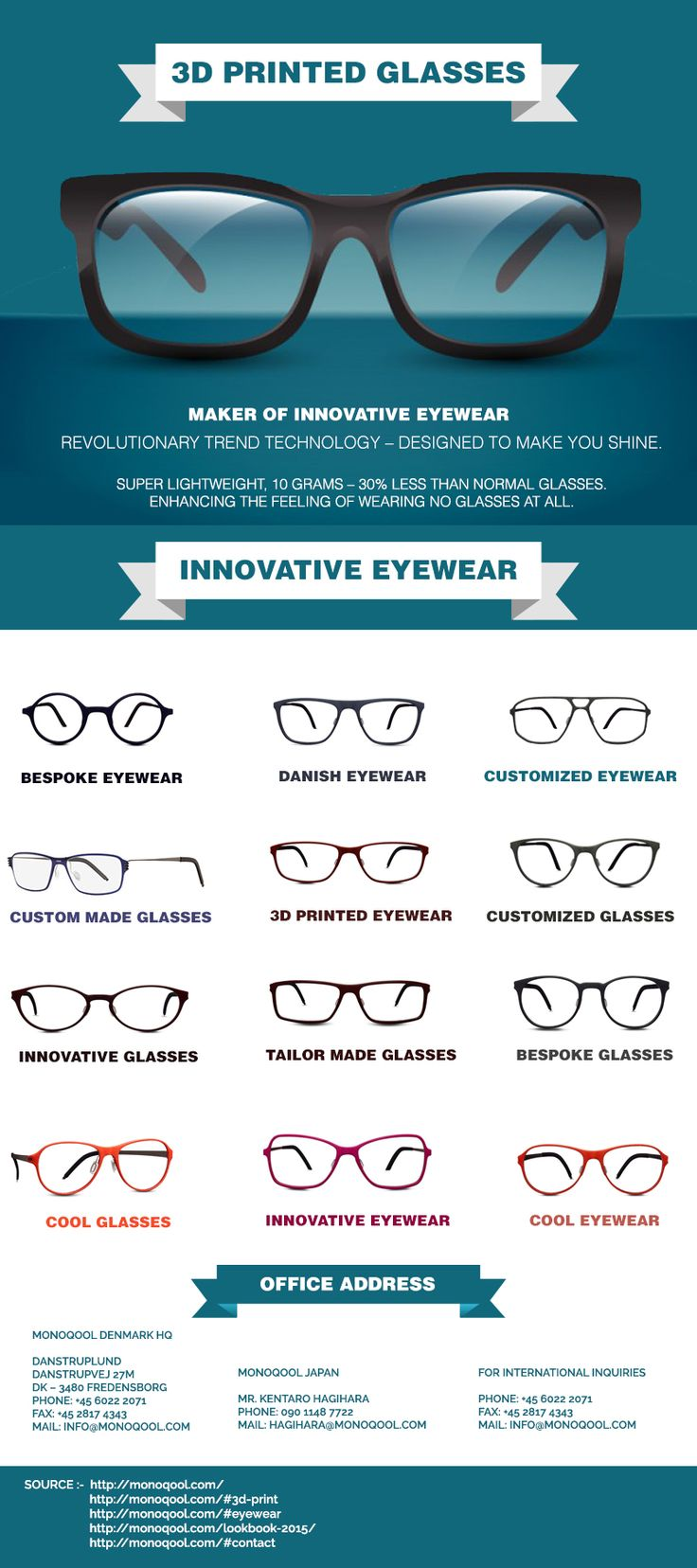 We all know that cool eyewear is comfortable for eye and their vision. People can try some more products similar to that like innovative glasses, innovative eyewear, cool glasses, cool eyewear, Danish eyewear, Danish glasses, customized eyewear, 3D printed glasses, 3D printed eyewear, tailor made glasses and many more at suitable price.