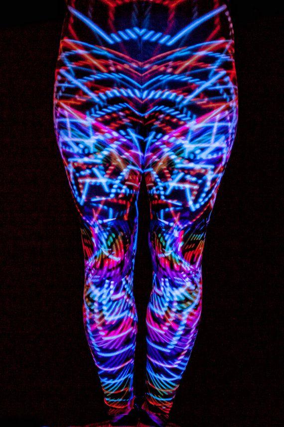 Leggings made from a photo of an led hoop! So cool! https://www.etsy.com/listing/221788097/led-hula-hoop-leggings-blacklight