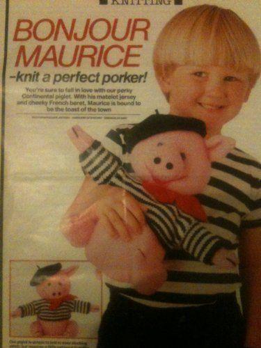 Bonjour Maurice Alan Dart toy knitting pattern (magazine pullout) by alan dart, http://www.amazon.co.uk/dp/B00I6KWQ76/ref=cm_sw_r_pi_dp_VGNitb1Q0EZCH