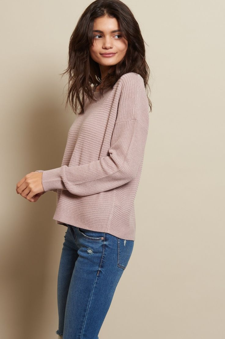 Get wrapped up in this comfy fave. Featuring a relaxed fit, a wide neck, and ribbed sleeve hems, this sweater has that perfect fit.
