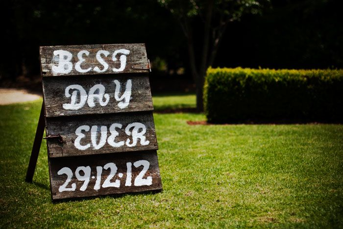 Best Day Ever #wedding #sign #welcome #rustic