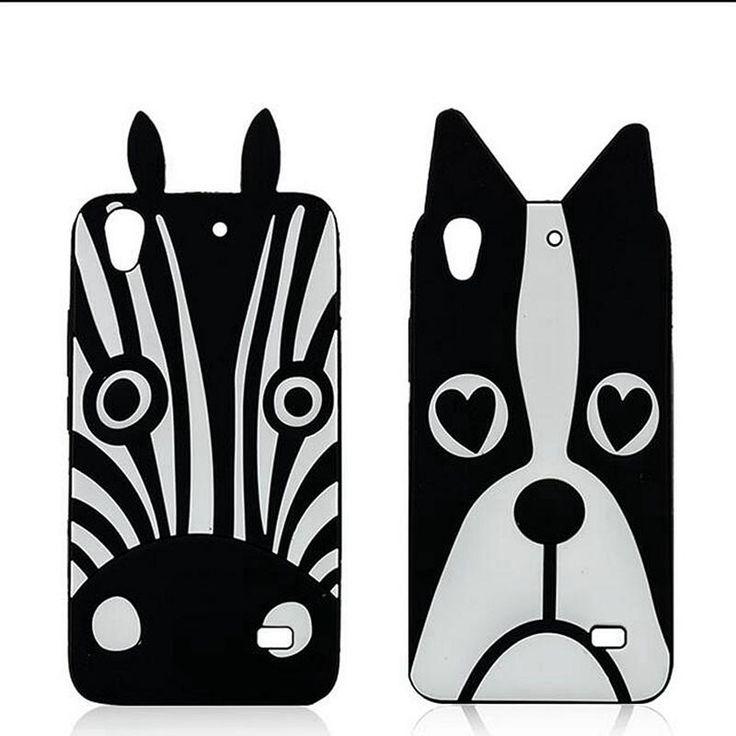 1 PCS 3D dos desenhos animados animais Dog Zebra Silicone suave caso capa para Fundas Huawei Ascend G620 620 630 Silicone casos de telefone celular Coque(China (Mainland))