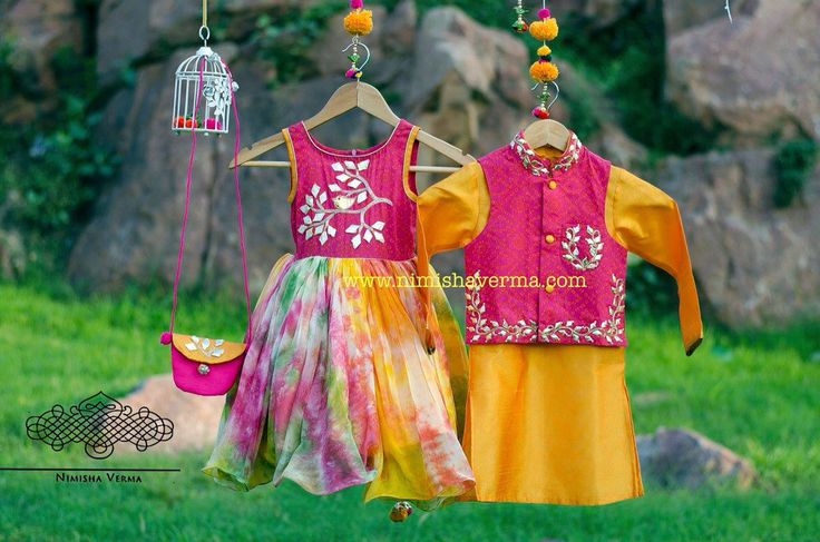 beautiful Indian special outfits for young boy and girl