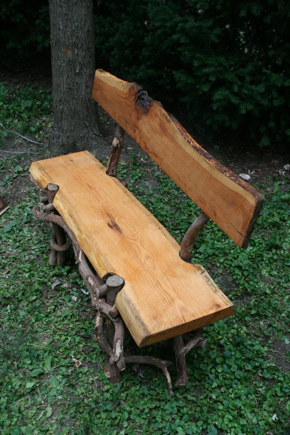 Oak Cherry and Mountain Laurel Garden Bench