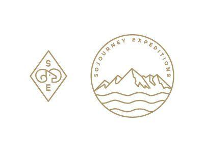 Circular mountain logo. Logo with mountain. Adventure company logo. Sojourney icons #logo #mountain #circlelogo: