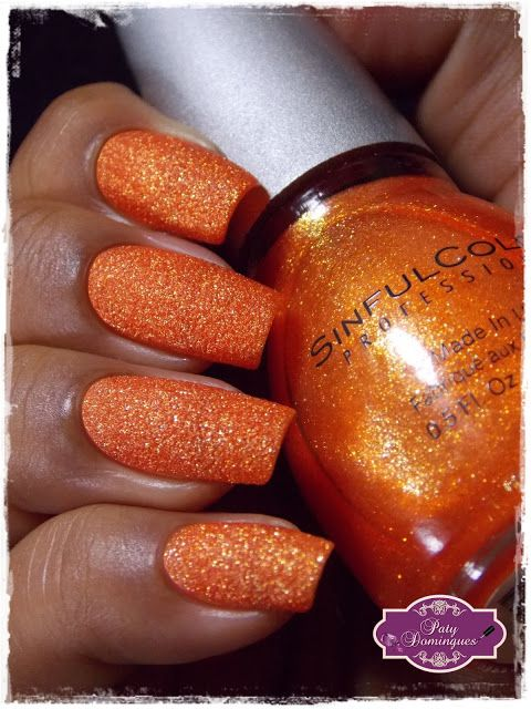 Orange Crush - Sinful Colors #esmaltadasdapatydomingues #liquidsand  #sinfulcolors
