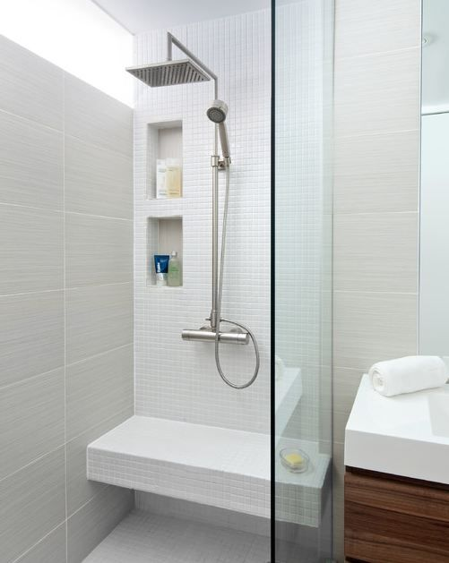 Bathroom, Entrancing Latest Bathroom Design Ideas With Laminate Wooden Floor With Wooden Washstand With Single Sink Decorative With White Toilet Bowl With Glass Wall For Shower Room With Stainless Steel Furniture Ideas: Dazzling Contemporary Bathroom Design Ideas to Enjoy Me-Time
