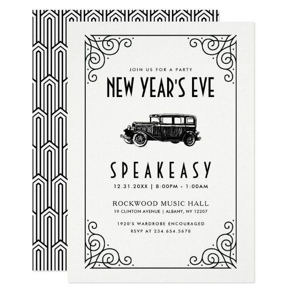 New Year S Eve Party Invitation 1920 S Speakeasy Zazzle Com In 2021 Speakeasy Invitations New Years Eve Invitations New Years Eve Party