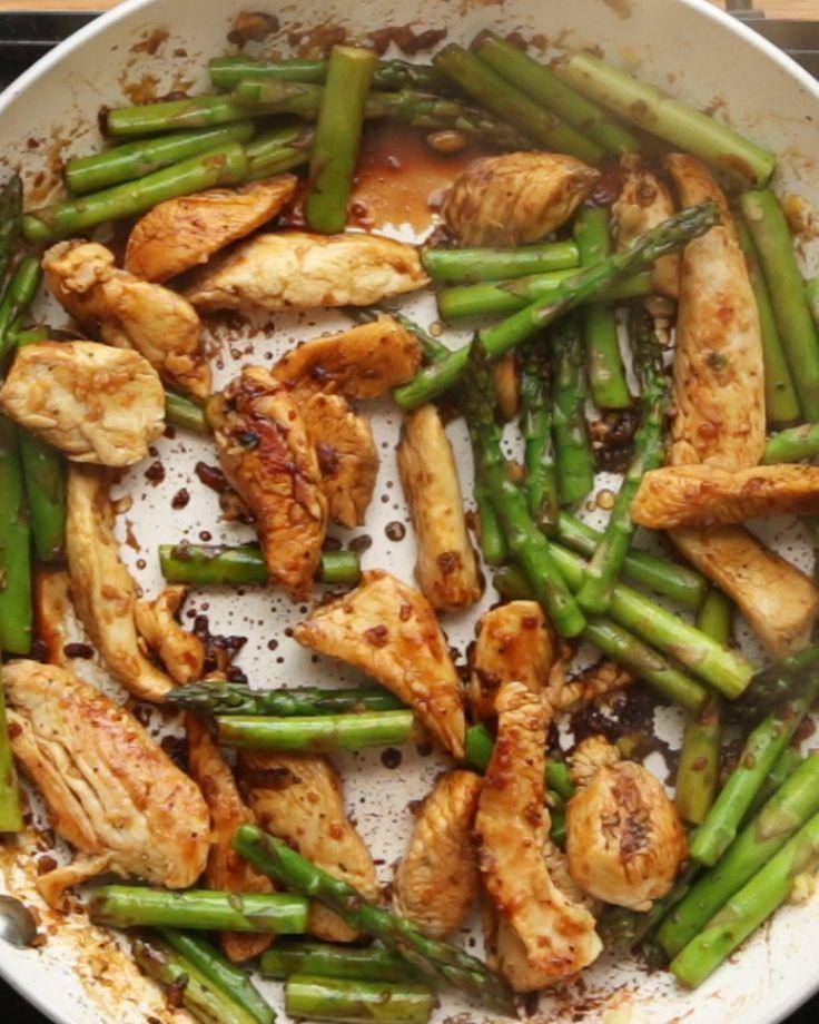 Lemon Chicken And Asparagus Stir Fry  #RePin by AT Social Media Marketing - Pinterest Marketing Specialists ATSocialMedia.co.uk