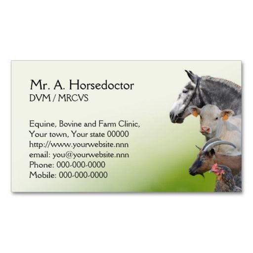 193 best veterinarian business cards images on pinterest business veterinary practice appointment and business card reheart Image collections