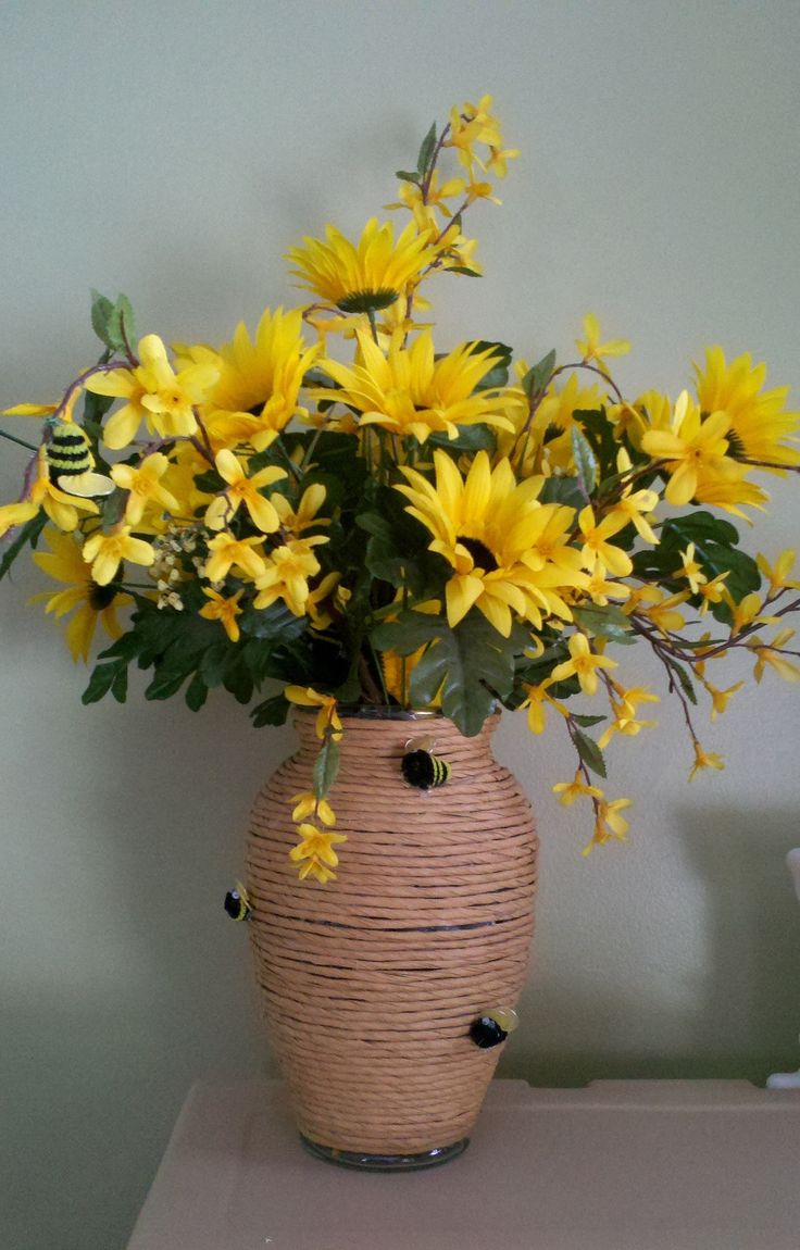 Bee theme shower. Great centerpieces .... so easy and inexpensive!