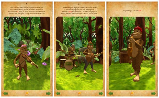 Gorilla Band 3D Storybook #App