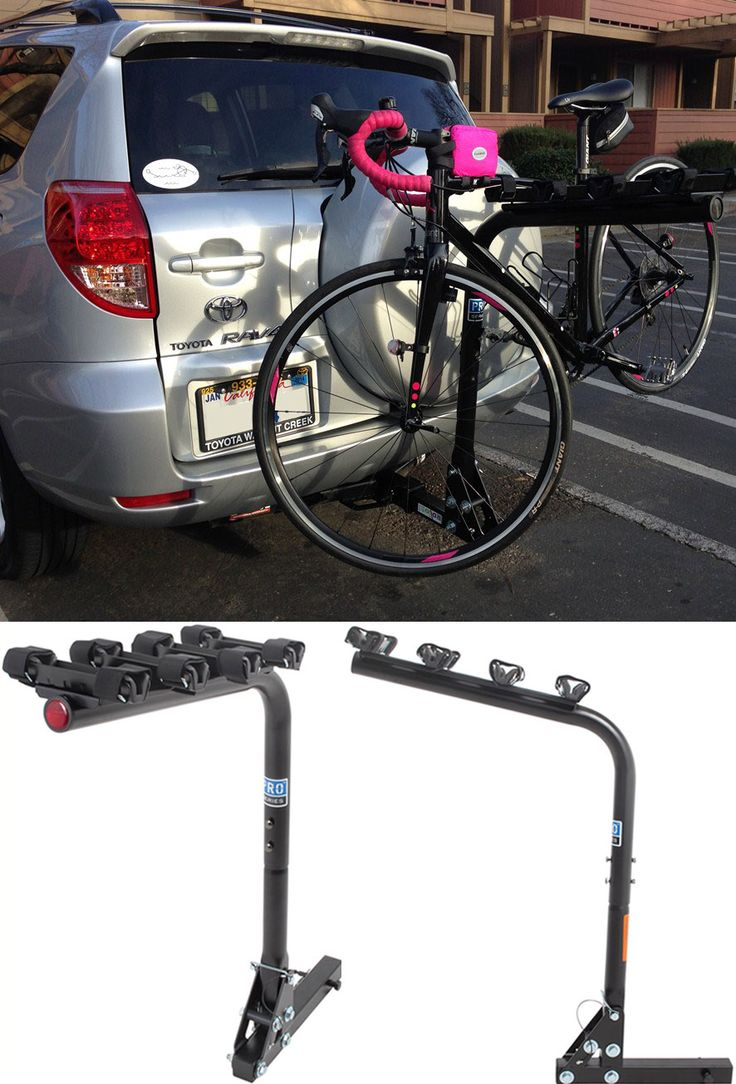 In terms of accessories for the Toyota RAV4 this bike rack is one of the BEST. The Pro Series Eclipse 4 Bike Rack is ideal for families that love biking! Features sturdy cradles, an anti-rattle hitch bolt and is also made of durable, corrosion resistant steel.