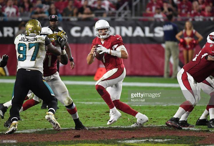 News Photo : Blaine Gabbert of the Arizona Cardinals drops...